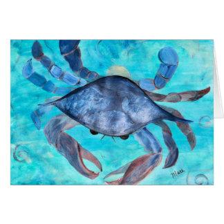 Blue Crab Ggreeting Card