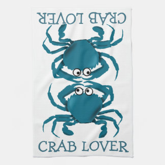 Blue Crab Lover Kitchen Towel