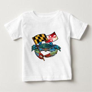 Blue Crab Maryland flag Baby T-Shirt