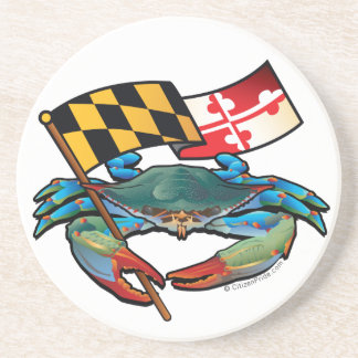 Blue Crab Maryland flag Coaster