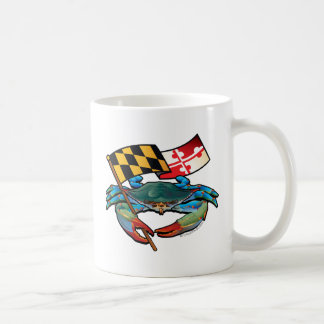 Blue Crab Maryland flag Coffee Mug