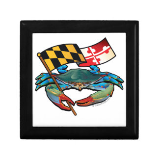 Blue Crab Maryland flag Gift Box