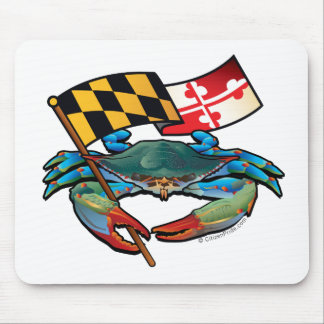 Blue Crab Maryland flag Mouse Pad