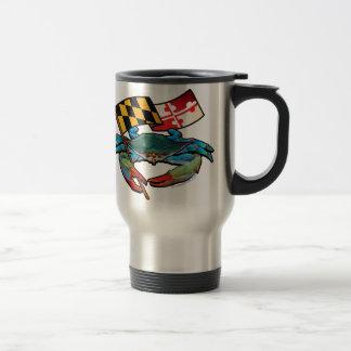 Blue Crab Maryland flag Travel Mug