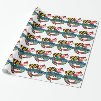 Blue Crab Maryland flag Wrapping Paper