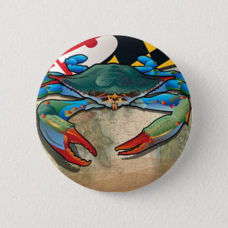 Blue Crab of Maryland 2 Inch Round Button