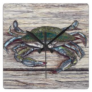 Blue Crab on Dock Clock