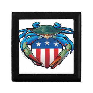 Blue Crab USA Crest Gift Box