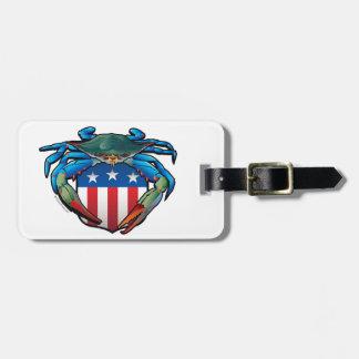 Blue Crab USA Crest Luggage Tag
