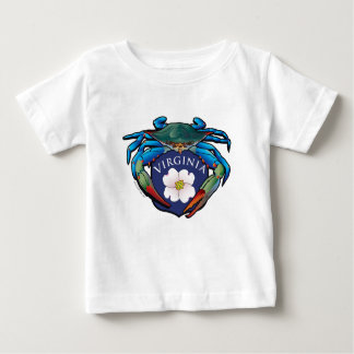 Blue Crab Virginia Dogwood Blossom Crest Baby T-Shirt