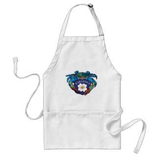 Blue Crab Virginia Dogwood Blossom Crest Standard Apron
