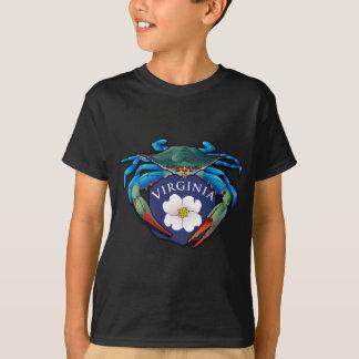 Blue Crab Virginia Dogwood Blossom Crest T-Shirt