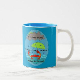 Blue Crabby Day Haiku Mug