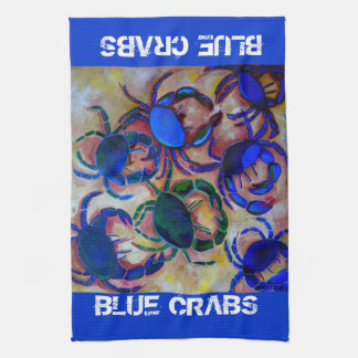 Blue Crabs Kitchen Towel