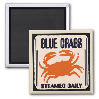 Blue Crabs, Steamed Daily Magnet