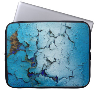 Blue cracked laptop sleeve. laptop sleeve