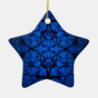 Blue cracked wall pattern ceramic ornament