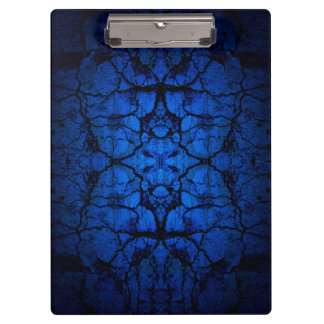 Blue cracked wall pattern clipboard