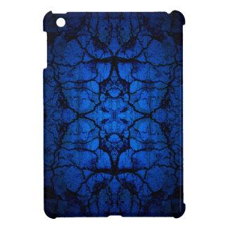 Blue cracked wall pattern iPad mini cases