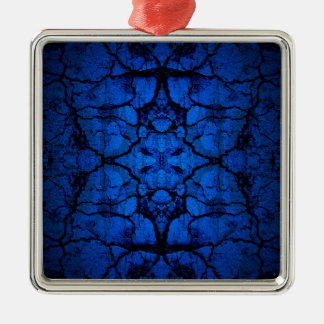 Blue cracked wall pattern metal ornament