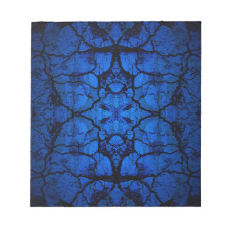 Blue cracked wall pattern notepad