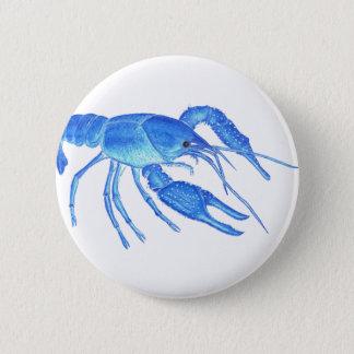 Blue Crawfish 2 Inch Round Button
