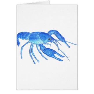 Blue Crawfish Card