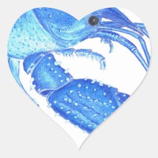 Blue Crawfish Heart Sticker