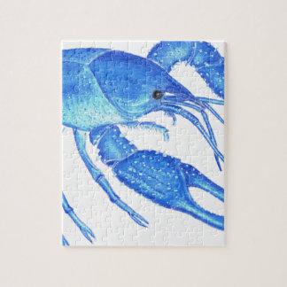 Blue Crawfish Jigsaw Puzzle