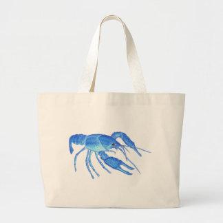 Blue Crawfish Large Tote Bag