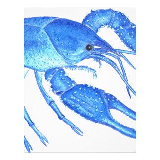 Blue Crawfish Letterhead