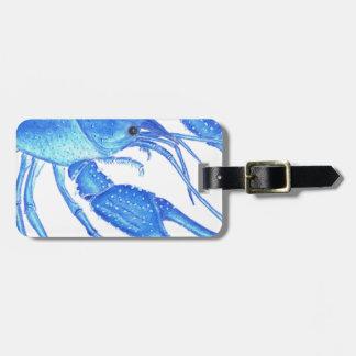 Blue Crawfish Luggage Tag