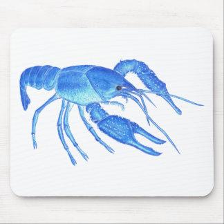 Blue Crawfish Mouse Pad