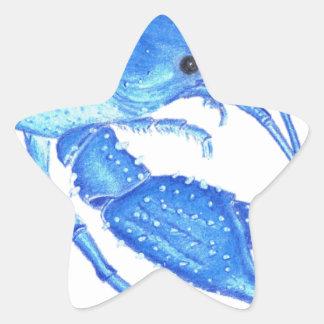 Blue Crawfish Star Sticker