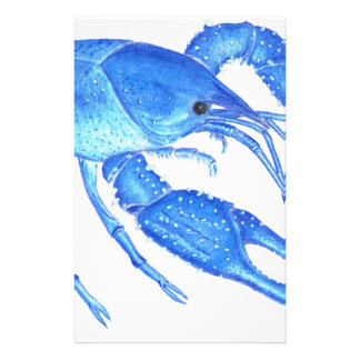 Blue Crawfish Stationery