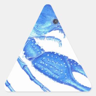 Blue Crawfish Triangle Sticker