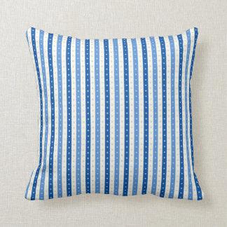 Blue & Cream Candy-Wrap Stripes. Pillows