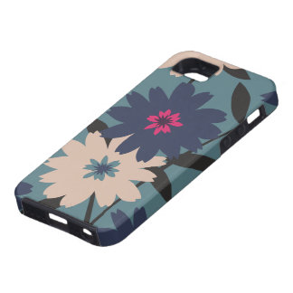 Blue & Cream Floral iPhone 5 Case