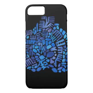 Blue creature mosaic iPhone 7 case