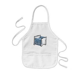 blue crib aprons