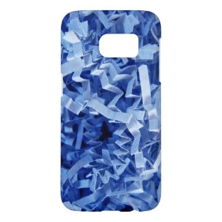 Blue Crinkled Shredded Paper Photograph Samsung Galaxy S7 Case