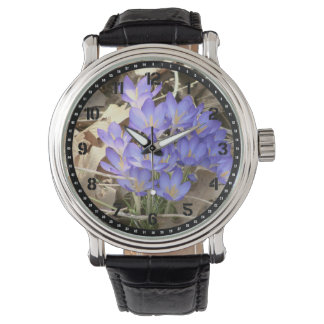Blue Crocus Candy Tin Wrist Watch