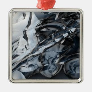 Blue Crome Metal Ornament