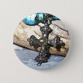 Blue Cross 2 Inch Round Button