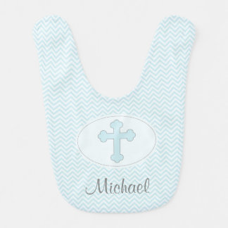 Blue Cross Baby Boy Bib