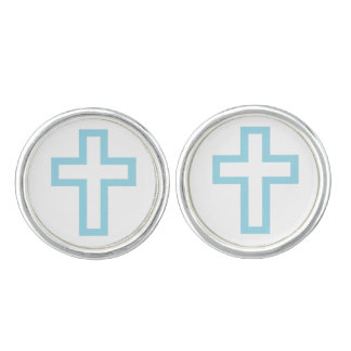 Blue Cross Cufflinks