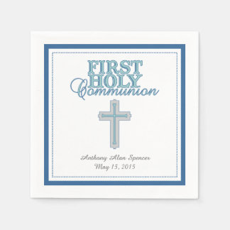 Blue Cross First Holy Communion Paper Napkins