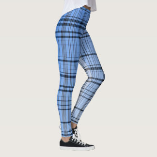 Blue cross-hatched leggings