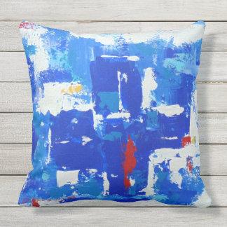 Blue Cross Outdoor Pillow
