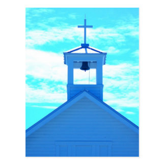"""Blue Cross"" Photo~ church steeple, Boca Grand Fl Postcard"